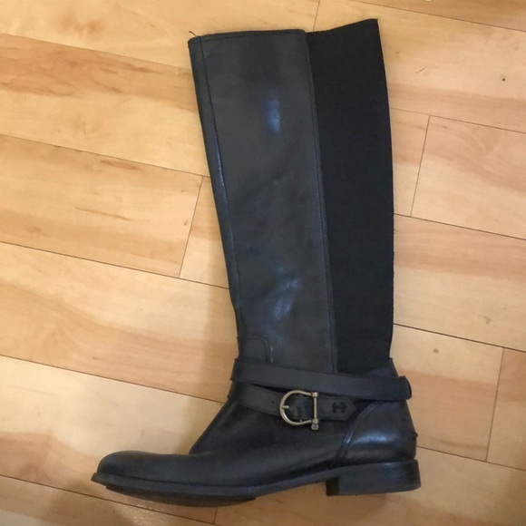 Sperry Black Leather Riding Boots